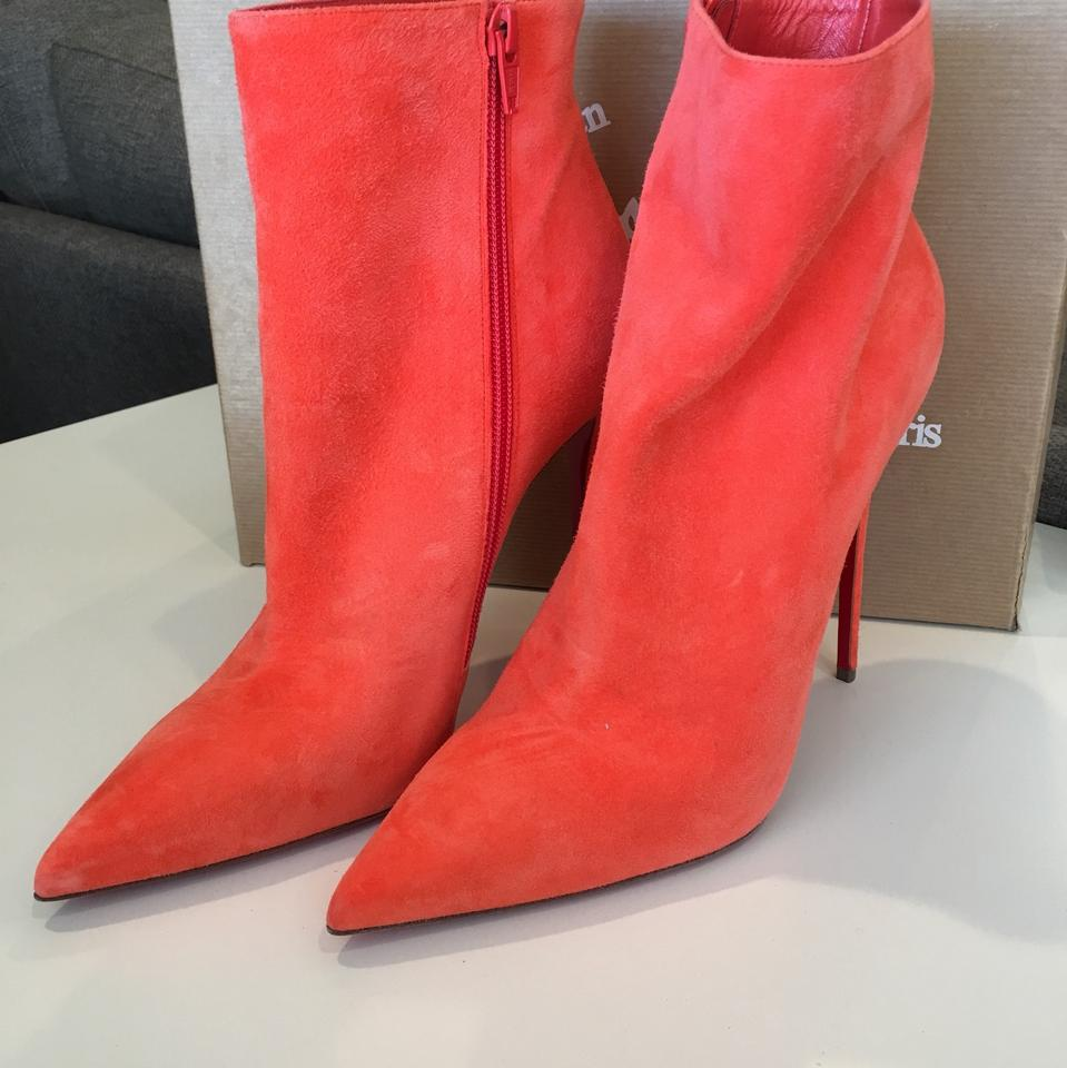 2af9cd9acd9 Christian Louboutin Papaya So Kate 120 Suede Boots Booties Size EU 40.5  (Approx. US 10.5) Regular (M