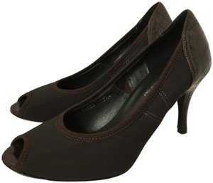 Donald J. Pliner Alligator Stiletto Brown Pumps