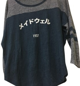 Madewell T Shirt blue grey white