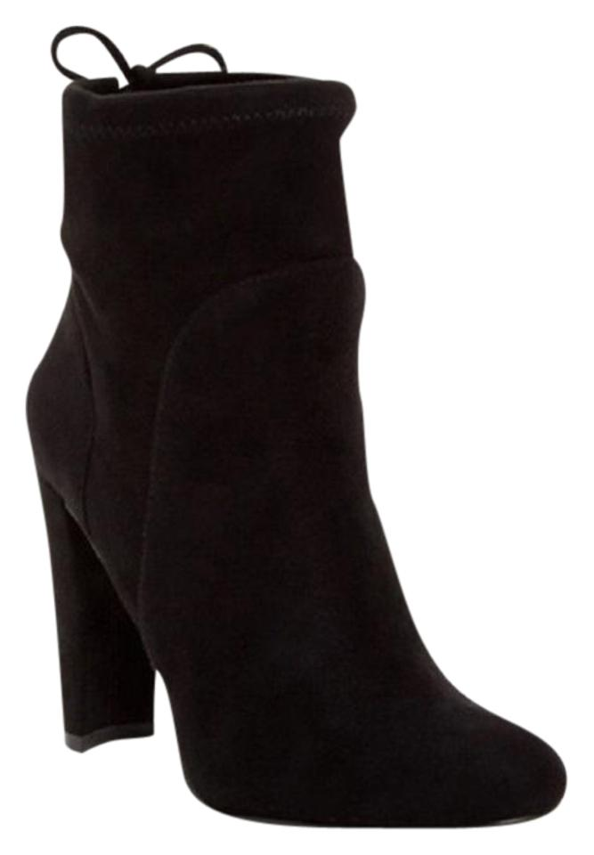 Charles By David Micro Suede Pull On Black Boots Image 0