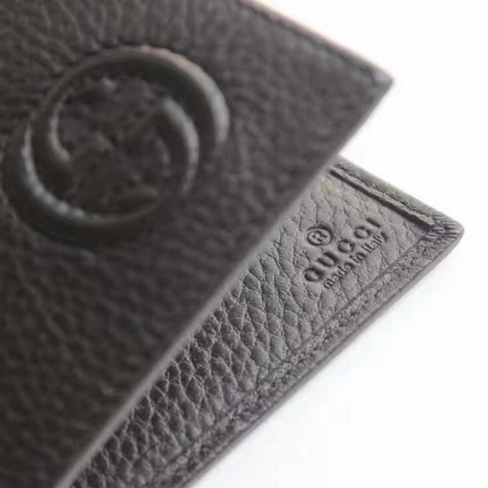 c8358b643d1 Gucci Gucci Men s Leather Monogram Bifold Wallet 322114 Gray Pebbled Leather  Image 8. 123456789