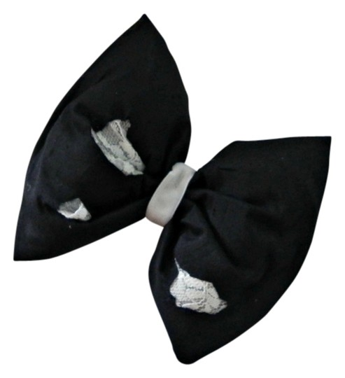 Preload https://item4.tradesy.com/images/handmade-silk-hair-bow-in-black-dupioni-raw-silk-with-lace-hair-bow-stuffed-raw-silk-hair-bow-stunning-2289568-0-2.jpg?width=440&height=440