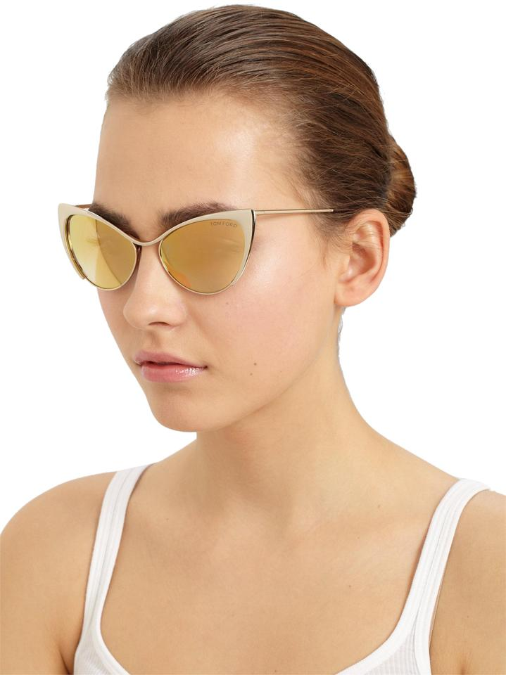 0a223cce921 Tom Ford NEW Tom Ford Nastasya Gold Mirrored Cat Eye Sunglasses Image 0 ...