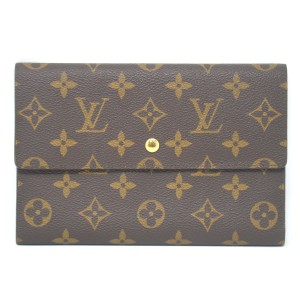 Louis Vuitton Louis Vuitton Monogram Canvas Bi-Fold Large Wallet