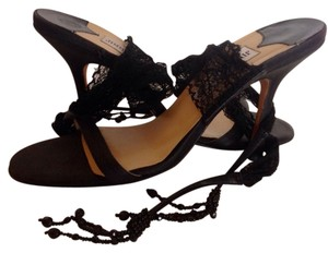 Jimmy Choo Laces Italy 36.5 Black Sandals