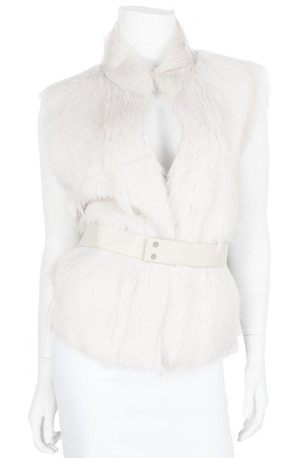 Item - Grey-white Fur One-size Vest Size OS (one size)