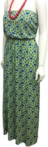 Blue & Green Maxi Dress by Tracy Negoshian