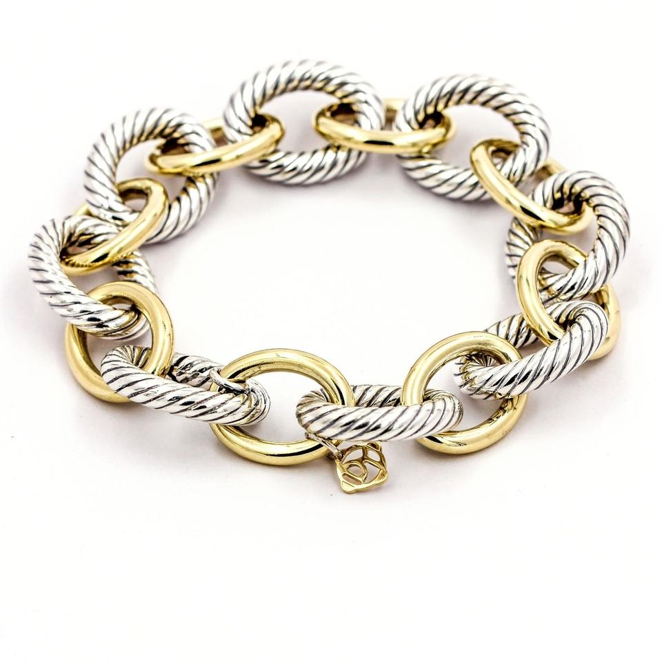 David Yurman Extra Large Oval Link Bracelet In 18k Yellow Gold