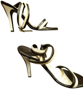 Chanel Black and Cream Soft Chanel Leather Sandals