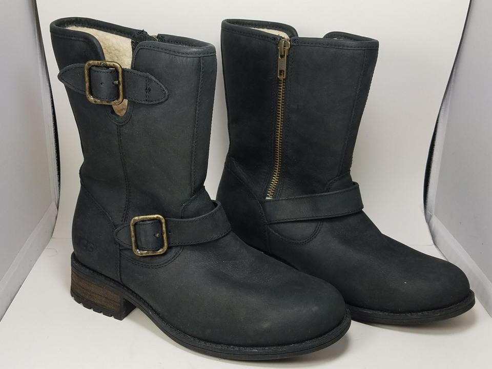 cd8a68f04ff UGG Australia Black Womens Chaney Leather Boot-style 1007542-black  Boots/Booties Size US 6 Regular (M, B)
