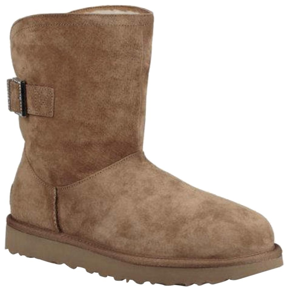 d6ee17e5f83 UGG Australia Chestnut W Uggs Remora Buckle Buckle Crystal Bling  Boots/Booties Size US 8 Regular (M, B)