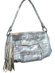 Carlos Falchi Satchel in Gray and gold