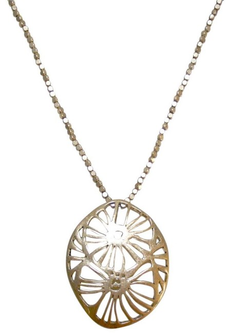 Kenneth Cole Gold New Flower Pendant Necklace Kenneth Cole Gold New Flower Pendant Necklace Image 1