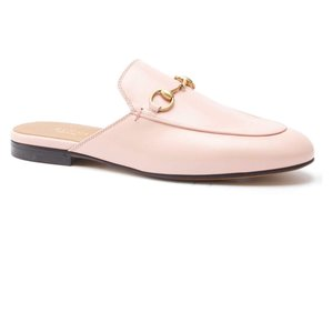 Gucci light pink leather Mules