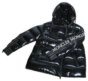 Moncler Big Zipper Down Oversized Black Jacket