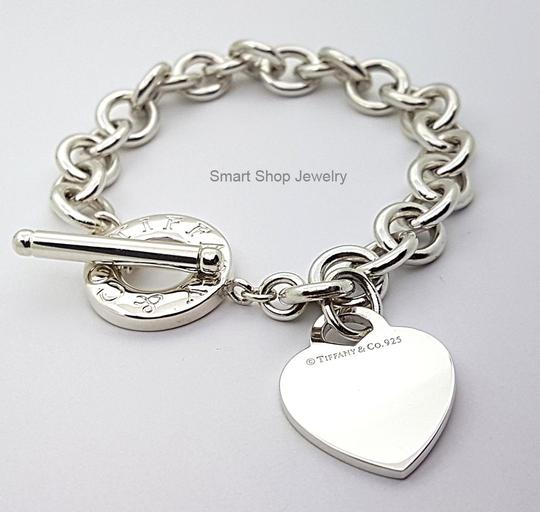 Tiffany Amp Co Toggle With Heart Charm Bracelet Tradesy