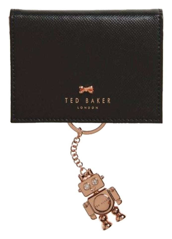 360afc147 Ted Baker Leather Card Holder Wallet with Rose Gold Robot Key Chain Image 0  ...