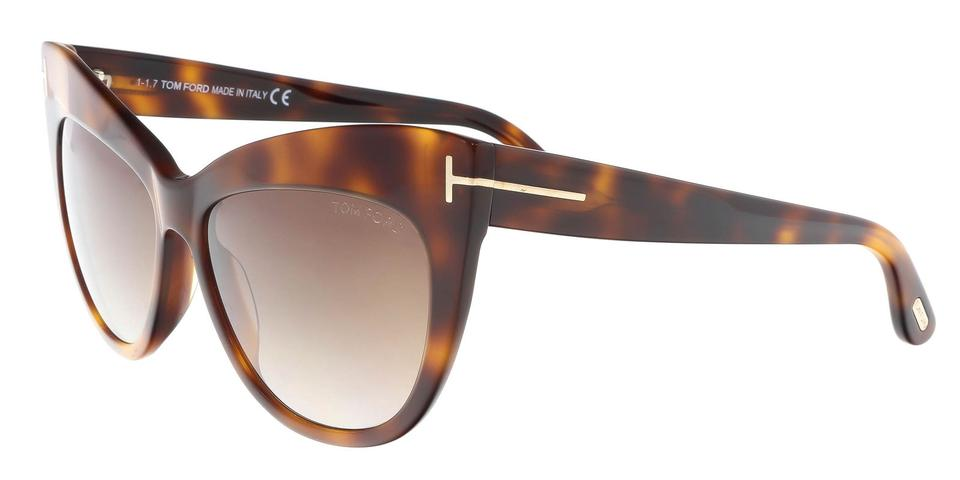 9a9c102132bb6 Tom Ford Tom Ford FT0523 S 53F NIKA Medium Havana Cat Eye Sunglasses Image  0 ...