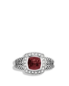 David Yurman David Yurman Petite Albion Ring with Garnet and Diamonds, Size 6