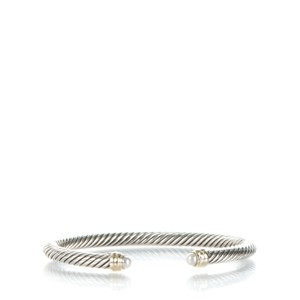 David Yurman Cable Classics Bracelet with Pearls and 14K Gold