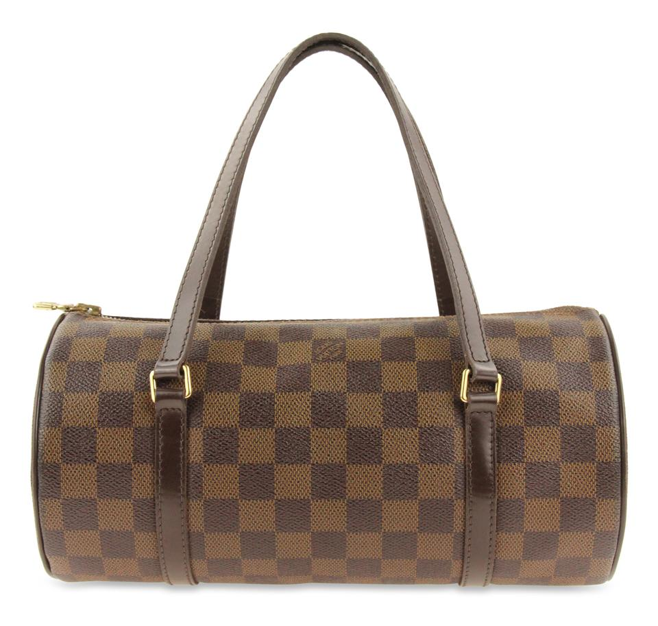2b4769ba3ada Louis Vuitton Papillon 26 Damier Ebene Brown Coated Canvas Satchel ...