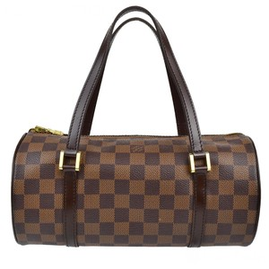 Louis Vuitton Damier Ebene Papillon Small Tote Satchel in Brown