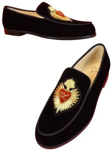 Christian Louboutin Black/Gold/Red Flats