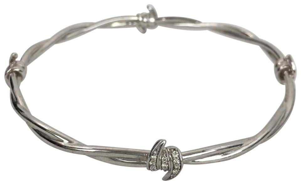 bangle diamond tdw sterling bracelet bangles silver by champagne