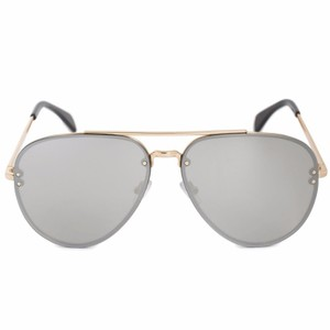Céline NEW Celine CL 41391S 41391/S Silver Pilot Mirrored Aviator Sunglasses