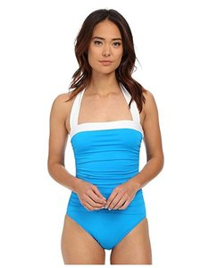 Ralph Lauren NEW Ralph Lauren One-piece Swimsuit Ruched Tummy Control Turquoise