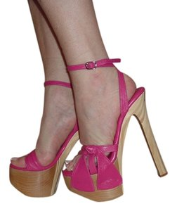 XTC Ankle Strap High Sexy Pink Platforms