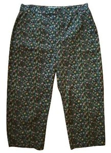 Rebecca Taylor Capris Green and blue floral