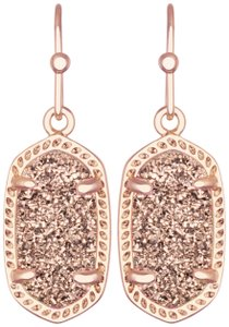 Kendra Scott BRAND NEW Kendra Scott Lee Oval Rose Gold Drusy Earrings