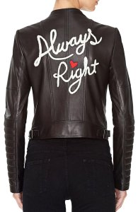 Alice + Olivia Biker And Quilted Leather Jacket
