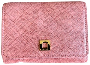 Lodis Lodis Women's Leather Accordion Card Case Wallet Pink Gold
