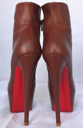 Christian Louboutin Thigh High Daffodile Ankle Over Knee Brown Boots