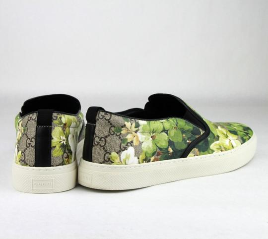 Gucci Green Men's 'bloom' Print Slip-on Sneaker Flower 7g/Us 8 407362 8961 Shoes
