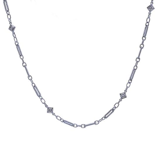 Preload https://img-static.tradesy.com/item/22900346/avital-and-co-jewelry-14k-white-gold-012-carat-diamond-fancy-oval-loop-link-16-chain-necklace-0-0-540-540.jpg