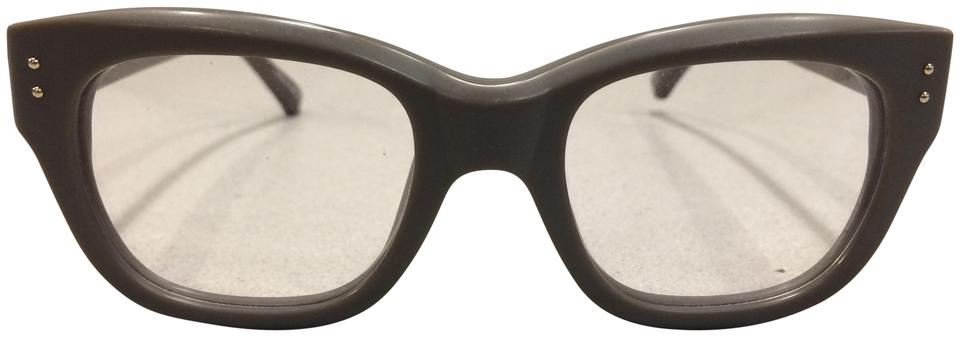 77edb411cf Linda Farrow Army Green Luxe 91 Square Optical Frames Glasses - Tradesy