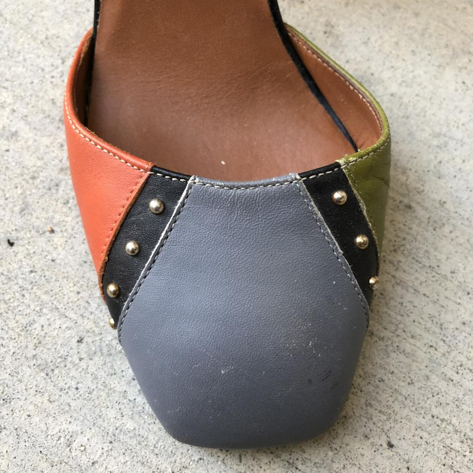 2f7ad302d6d Valentino Colorblock Dotcom Patchwork Leather Ankle Strap D orsay ...