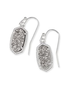Kendra Scott BRAND NEW Kendra Scott Lee Oval Platinum Drusy Earrings
