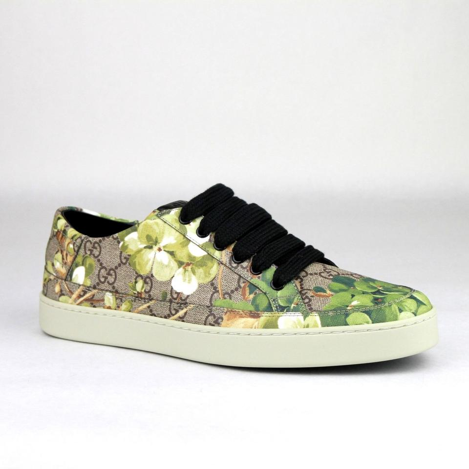 0624ed84917 Gucci Green Men s Bloom Print Flower Sneaker 7g Us 8 407343 8960 Shoes  Image 0 ...