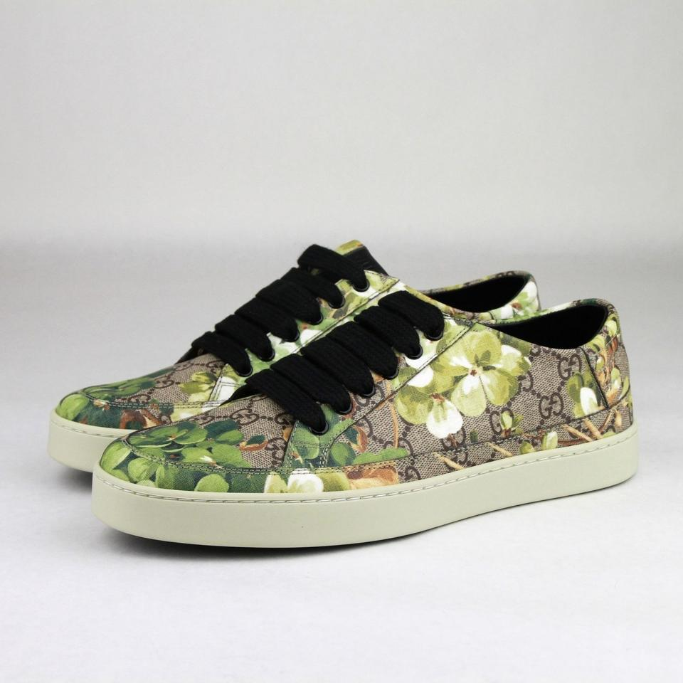 c0ff09d66bd Gucci Green Men s Bloom Print Flower Sneaker 7g Us 8 407343 8960 Shoes  Image 7. 12345678