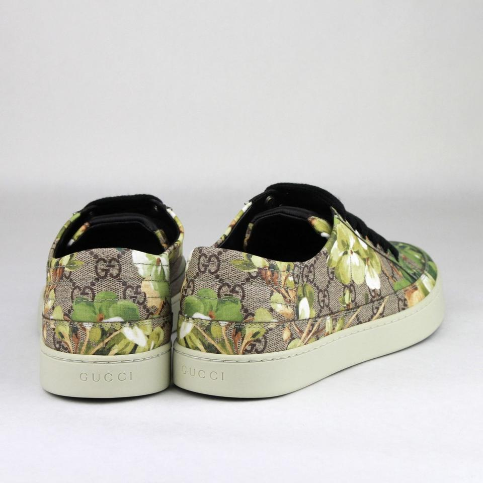 e23ab170ae2 Gucci Green Men s Bloom Print Flower Sneaker 7g Us 8 407343 8960 Shoes  Image 7. 12345678