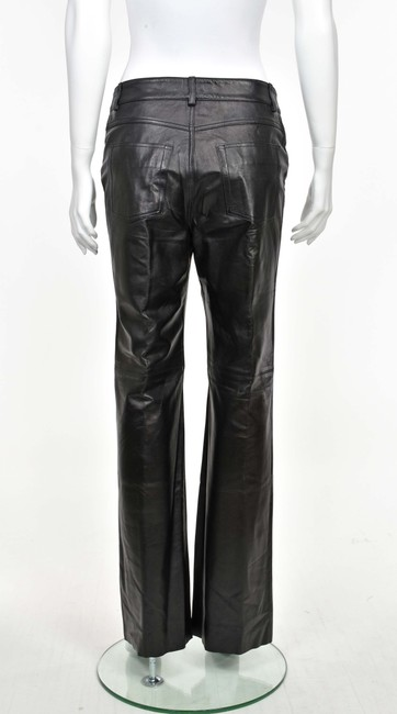 Saks Fifth Avenue Leather Jeans Leather Boot Cut Pants Black