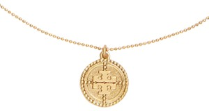 Tory Burch NEW Tory Burch Coin Logo Pendant Necklace