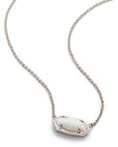 Kendra Scott Brand New Kendra Scott Elisa Necklace in White Kyocera Opal Silver