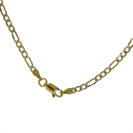 Avital & Co Jewelry Figaro Link Chain Made In Italy 18K Yellow Gold Over Silver 22