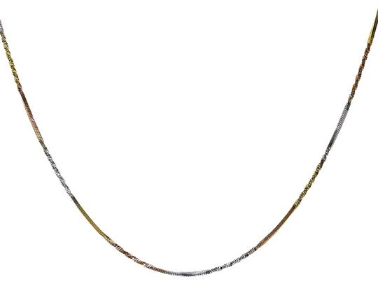 Preload https://img-static.tradesy.com/item/22900666/avital-and-co-jewelry-18k-tri-color-gold-over-sterling-silver-16-twisted-snake-link-chain-necklace-0-1-540-540.jpg
