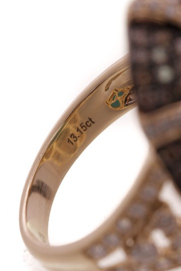 Fine Jewelry 18K Yellow Gold Turquoise Oval Diamond Ring